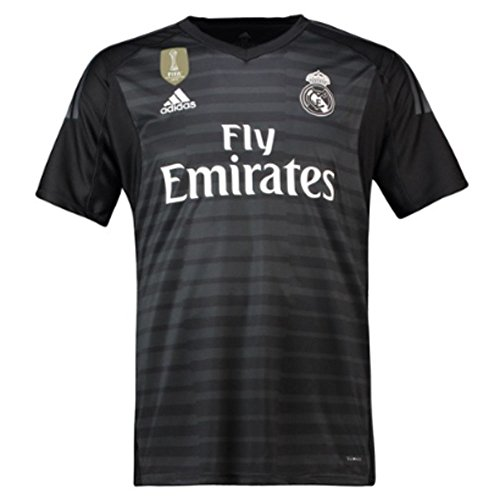 adidas 2018-2019 Real Madrid Home Goalkeeper Football Soccer T-Shirt Jersey