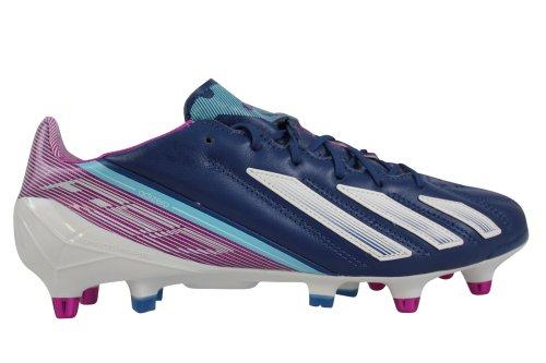 Adidas F50 Adizero SG - Botas de fútbol de cuero para hombre, color azul, talla 6 UK azul - azul