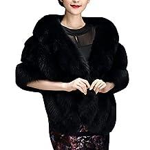 Fur Wedding Cape KINUT Woman Winter Faux Fur Shawl Cape For Party Wedding Dress