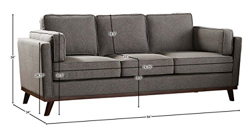 Homelegance Bedos Upholstered Living-Room Arm, Blue Fabric Chair, -  - sofas-couches, living-room-furniture, living-room - 41ShD8E3FDL -