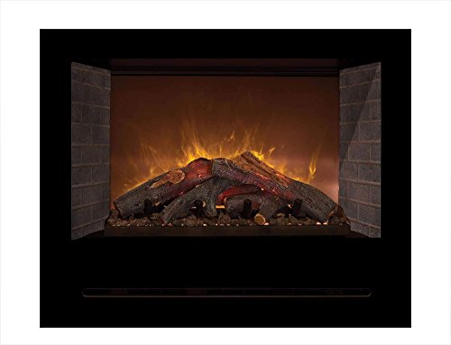 Cheap Modern Flames Home Fire Series Electric Fireplace with Log Set and Red Straight Side Panels 36-Inch Black Friday & Cyber Monday 2019