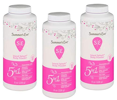 Summer's Eve Island Splash Body Powder, 8 Oz, Pack of 3