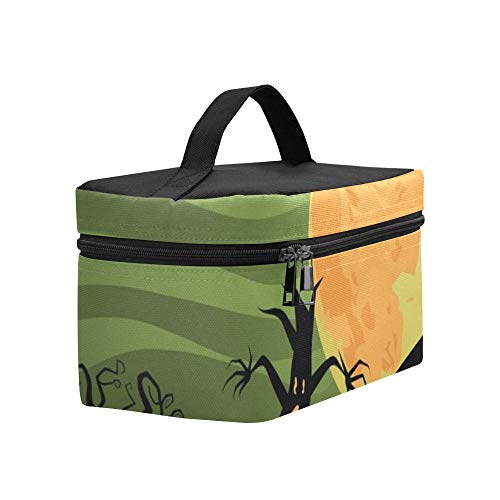 Creepy Halloween Trees Cat Jpg Lunch Box Tote Bag Lunch Holder Insulated Lunch Cooler Bag For -
