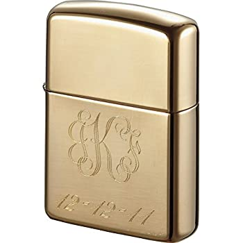 Personalized Zippo Armor High Polish Brass Lighter with Free Engraving