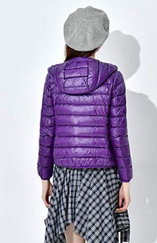 Puffer Ultra Leggero Piumini Energywomen Outwear Viola Packable Cappuccio I6qERwfH