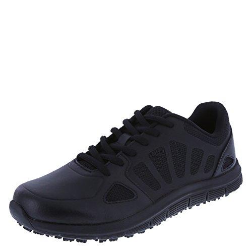 safeTstep Women's Black Slip Resistant Avail 2.0 Runner 10 Regular by safeTstep
