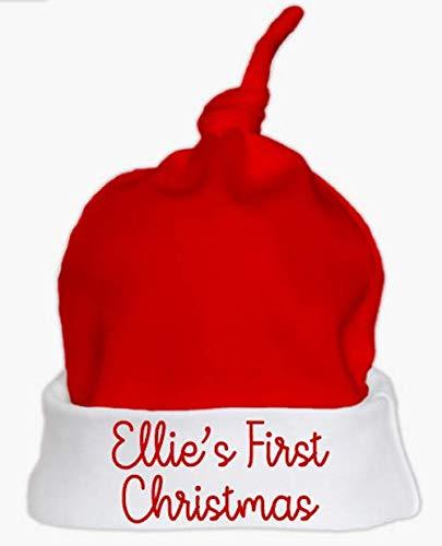Personalised Names First Christmas Baby Santa Hat Set First Christmas Baby Hat 2018 Cute Santa