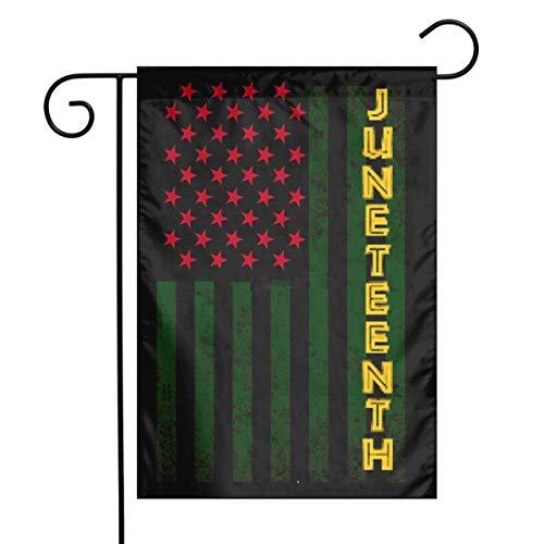 LMHB Juneteenth American Flag Garden Flag Decorative Sweet