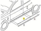 Genuine Chrome protective strip for door VW Passat