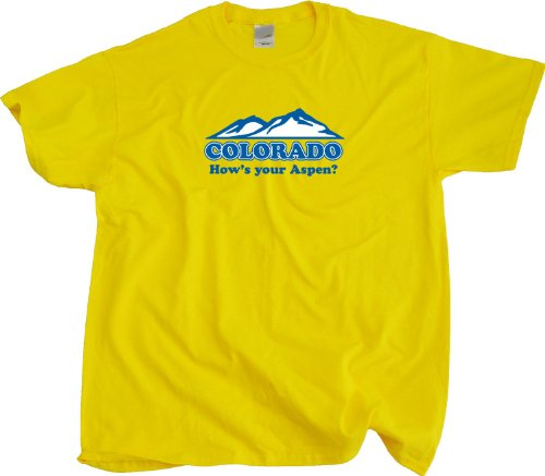 "Ann Arbor T-Shirt Co. Men's COLORADO ""HOW'S YOUR ASPEN""? T-Shirt"
