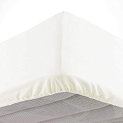 Douceur dIntérieur Lina - Sábana Bajera, algodón, Natural, 140 x ...