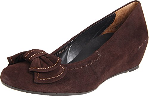 Paul Green Jory Brown Wedge Suede Shoes (8.5)