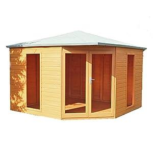 Larkspur 10x10 Corner Summer House Brown