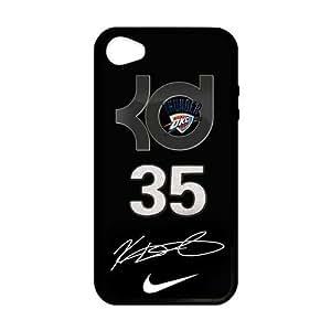 Cool Oklahoma City Thunder Nike Kevin Durant Custom Case Cover for iPhone 4,4S Laser Technology hjbrhga1544