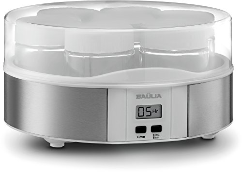 Baulia YM805 Auto Yogurt Maker, Includes 7 Glass 6 Oz Jars and Lids, Custom Flavor and Thickness, Silver by Baulia (Image #6)