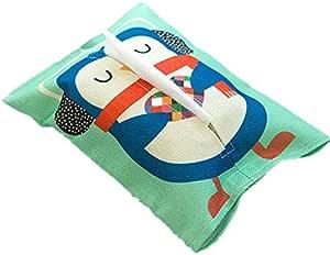 علبة مناديل كرتونية لطيفة للمناديل حاوية ورقية من القطن والكتان لتزيين المنزل قطعة واحدة منشفة ورقية للمنزل والسيارة