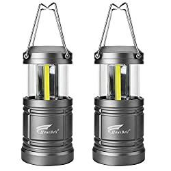 Portable Camping Lantern with Magnetic Base, Hausbell Cob LED Camping Lantern Collapsible Flashlights - Survival Kit for Emergency, Hurricane, Storm, Outage (2 Pack)