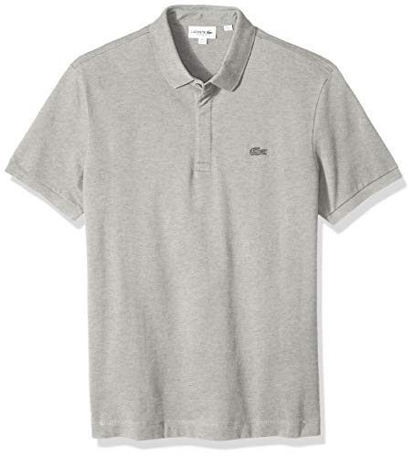 Lacoste Men's Short Sleeve Paris Piqué Polo, Silver Chine, 4X-Large