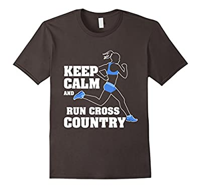 Keep Calm And Run Cross Country Funny Running Runner T-Shirt