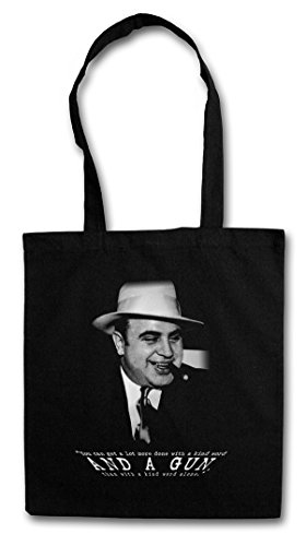 AL CAPONE VINTAGE PORTRAIT Hipster Shopping Cotton Bag Cestas Bolsos Bolsas de la compra reutilizables - gángster Mafia Mob Familia Mobster Chicago Prohibition Gangster Boss USA