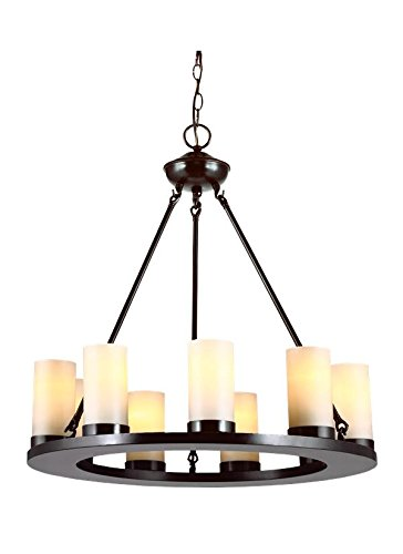 (Sea Gull Lighting 31587EN3-710 Nine Light Chandelier, Burnt Sienna)