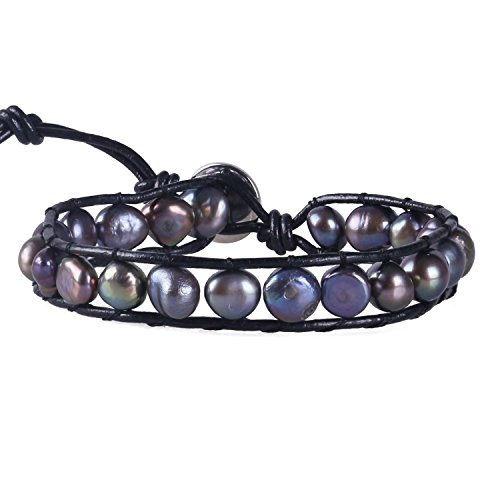 KELITCH Simulation Freshwater Pearls Single Bracelet Leather product image