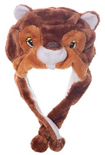 Squirrel Costume For Baby (Animal Head Super Soft Plush Childrens Hat -)