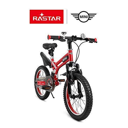 RASTAR Full Suspension Kid's Bike, Mini Cooper Kid's Bicycle 16 inch - Red, Top for Kids 2018 by RASTAR (Image #1)