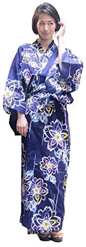 Kimura Jitsugyo Women's Kyoto Traditional Easy Wearing Kawaii Yukata Robe(Japanese Casual Kimono) Aurora Cherry blossoms Set 2 Medium Woman (Japanese Kimono Cotton)