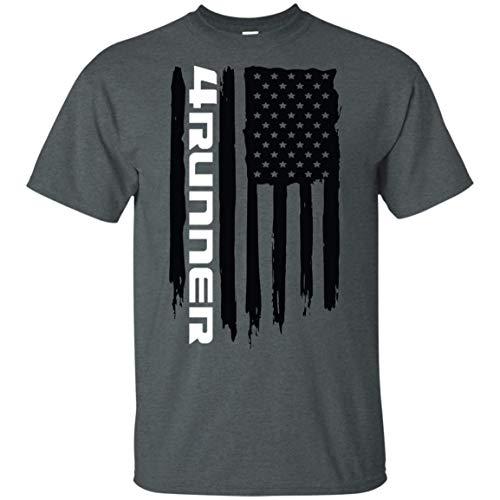 Wheel Spin Addict 4Runner TRD SR5 American Flag T-Shirt New Dark Heather
