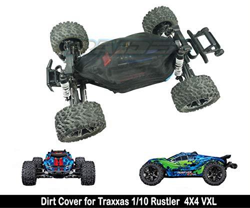 Raidenracing Nylon Mesh Chassis Dirt Dust Resist Guard Cover for Traxxas 1/10 Rustler 4X4 VXL 4WD Brush & Brushless