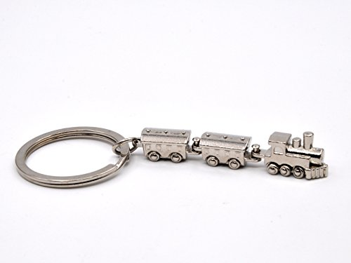 Pop Keychain Key Rings for Women and Men, Classic Retro Style Antique Brass Metal Key Chain (Train)