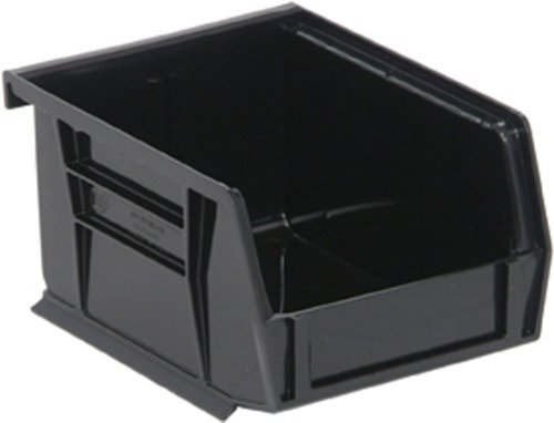 Quantum QUS210 Plastic Storage Stacking Ultra Bin, 5-Inch by 4-Inch by 3-Inch, Black Recycled, Case of 24