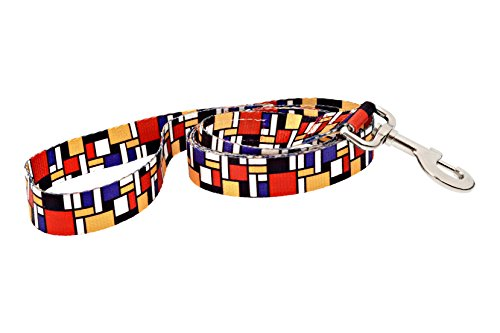 Dutch Dog Amsterdam Eco Friendly Mondrian Fashion Dog Leash, 5-Feet