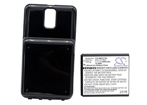 Skyrocket Extended Battery - VINTRONS Cameron Sino CS-SMI727XL Extended Cell Phone Battery + Back Cover for Samsung Galaxy S2 S II
