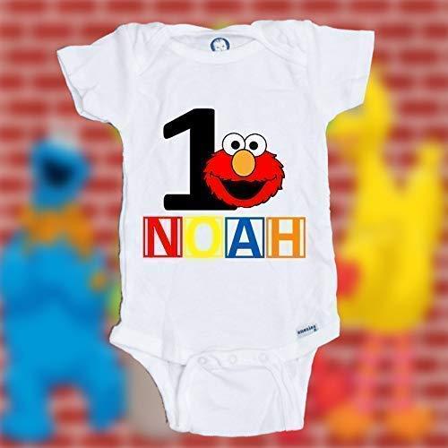 Personalized Customized Elmo birthday shirt | Elmo 1st birthday shirt | Elmo first birthday shirt | Boy Girl birthday shirt | Boy Girl birthday bodysuit/onesie