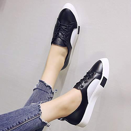 punta White poliuretano piatta per Comfort nera ZHZNVX a in PU Sneakers in bianca donna Punta poliuretano Punta xOFxWaS4Hn