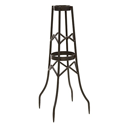 Achla Designs GBS-12, Large Wrought Iron Toadstool Stand, 21 1/2-in H, Graphite