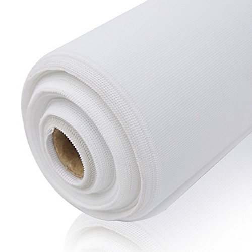 Flyzzz Exchengeable Fiberglass Window Screen Mesh Roll,Fits for Fiberglass Door, Window Screen and Courtyard Wall (1x20 Meters (About 39 inches Width and 21.87 yards Length) , White) by Flyzzz