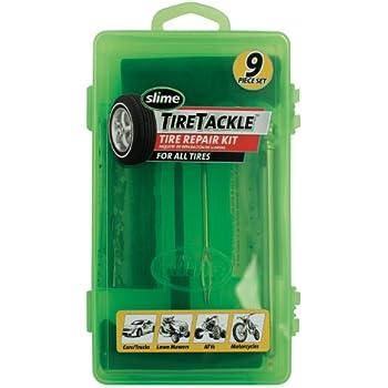 Slime 20133 Tire Repair Tackle Kit (9-Piece Set)