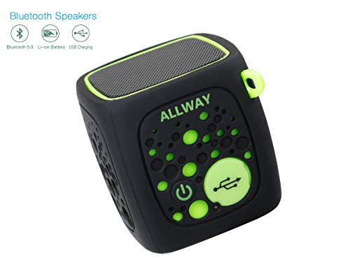 Mini Speaker Green - Portable Wireless Bluetooth Speakers,ALLWAY Mini Bluetooth Speakers with Loud Stereo Sound,TF Card Port,164 Feet Bluetooth 5.0 Range ,Rich Bass for Laptop,Macbook Pro,Iphone,MP4,Echo,Car,TV and More