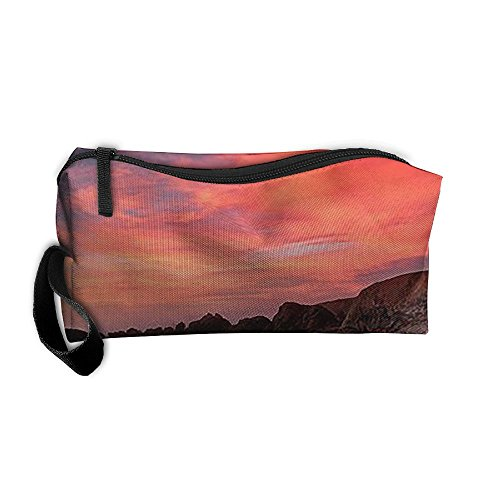 Portable Bodega Bay Sunset Pretty Travel Makeup Bags Essential Carrying Case For Jewelry