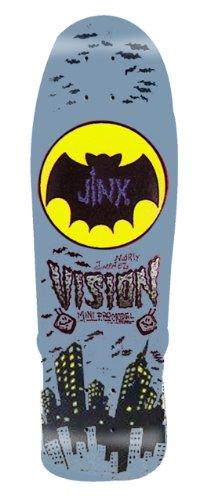 Vision Jinx Mini Reissue Skateboard Deck, Grey, 9.5 x 29.5-Inch