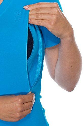My Tummy Maternité tee-shirt pour l'allaitement turquoise