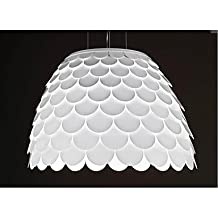 lanmei Originality Ceiling Chandelier 3 Light Spray Paint White Wrought iron led lights for home lamps
