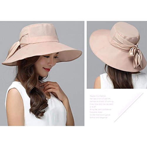 Caqui Otoño Plegarse Rosa Viajar Tapa Hat Sombrero Pac Playa Verano Nueva Chica El La Pueden Uv Visera En Xiaogege Exterior Hq4Aw4