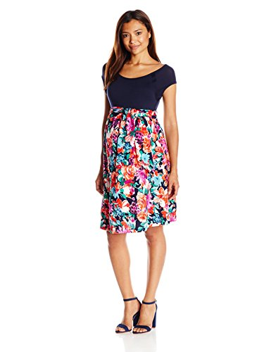 Maternal America Womens Maternity Front Tie Dress at Amazon Womens Clothing store: Maternity Nursing Dresses
