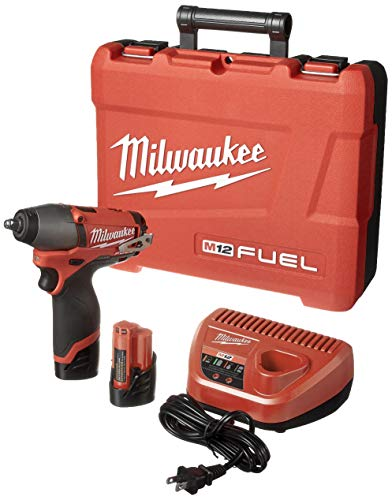 Milwaukee 2454-22 M12 Fuel 3 8 Impact Wrench Kit W 2 Bat