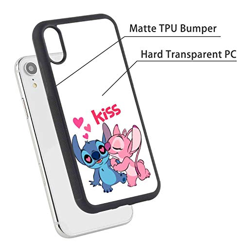 (DISNEY COLLECTION Stitch Kisses Angel Phone Case Fit for Apple iPhone Xr (2018) [6.1-Inch])