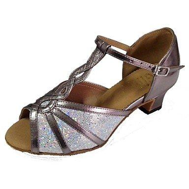 Xiamuo Correspondida Mulheres Sandálias De Dança Latina Calcanhar Aberto Toe Sapatos De Dança, Multicolorido, Us3.5 / Eu33 / Uk1.5 / Cn32
